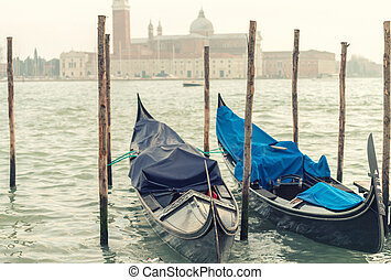 anochecer, venecia italia