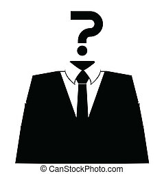 Anonymous avatar profile icon on white background. Vector.