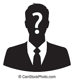 Anonymous business man icon - Businessman avatar with...