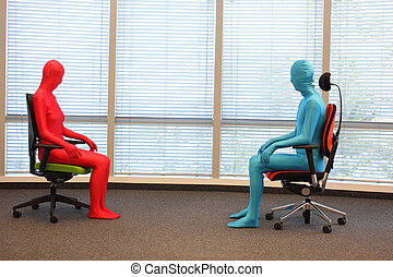 anonymous couple on armchairs