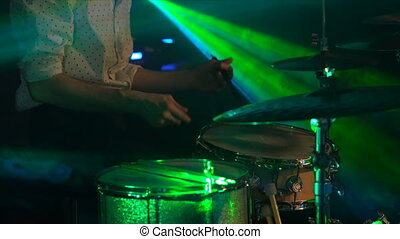 Anonymous Drummer Drumming on Stage