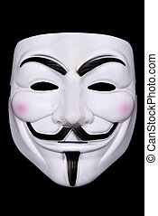 anonymous mask isolated on black
