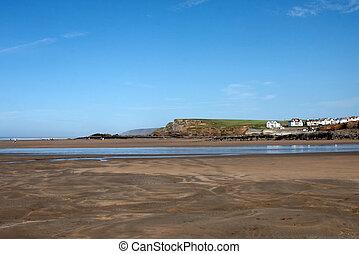 Bude beach in Cornwall