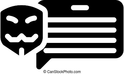 anonymous review glyph icon vector isolated illustration