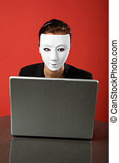 anonymous surfer - A female surfing the web anonymously
