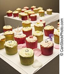 anordnung, von, cupcakes