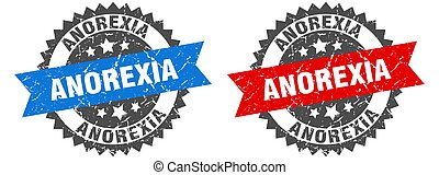 anorexia grunge stamp set. anorexia band sign