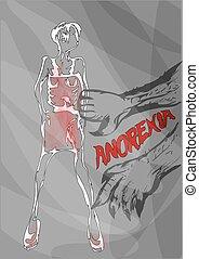 anorexia. nutrition disorder concept