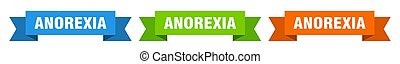 anorexia ribbon. anorexia isolated paper banner. sign