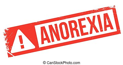 Anorexia rubber stamp. Grunge design with dust scratches....
