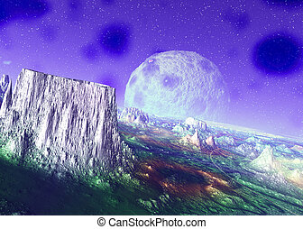 Anorexious Planet - 3D rendered scifi scenery...