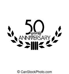 anos, aniversário, 50