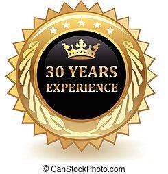 anos, experiência, emblema