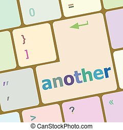 another button on the computer keyboard key vector illustration