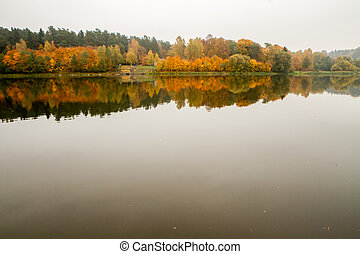 Another river bank in autumn - Lithuanian landscape come the...