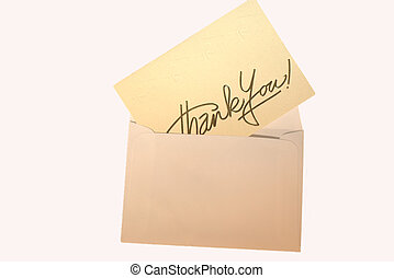 another thank you - a thank you card inside an envelope