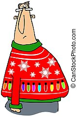 Another ugly Christmas sweater - Illustration depicting a...