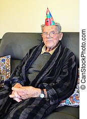 Another year older - A ninety five years old man celebrates...