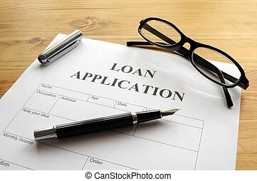 ansøgning, lån
