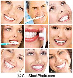 ans, 歯, 微笑