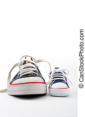 ans, atya, cipők, fiú