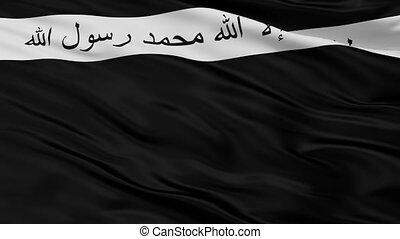 Ansar Al Islam Flag Closeup Seamless Loop - Ansar Al Islam...