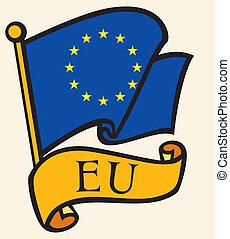 anschluß- markierungsfahne, (eu), europäische