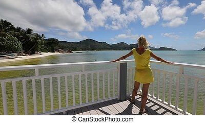 Anse Gouvernement Praslin - Lifestyle woman in yellow at...