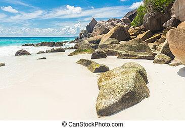 Anse Petite - Beautifully shaped granite boulders and a...