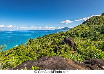 anse, principal, natureza, rastro, seychelles