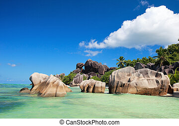 Anse Source d Argent beach on La Digue island in Seychelles