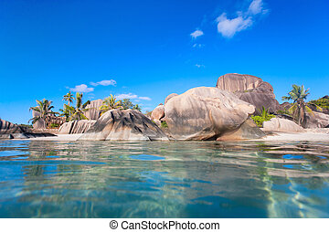 Anse Source d'Argent beach on La Digue island in Seychelles