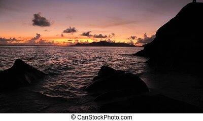 Anse Source d'Argent night - Amazing landscape of huge...
