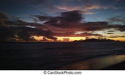 Anse Source d'Argent Seychelles night - La Digue island of...