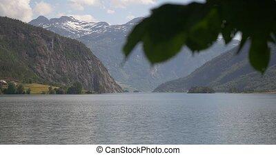 ansicht, an, norwegisch, fjorde