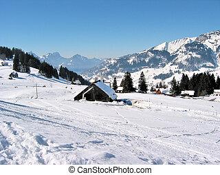 ansicht., schweiz, alpin, arvenbuel, majestätisch