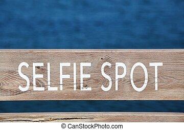 ansicht, selfie, zeichen, fleck, punkt