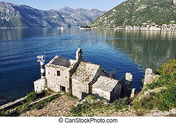 ansicht, von, alte kirche, montenegro