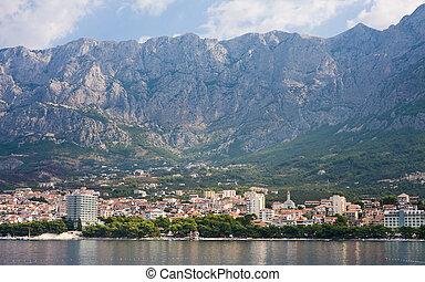 ansicht, von, der, cluburlaub, makarska., kroatien