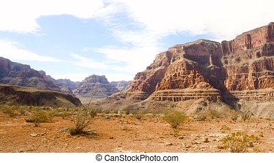 ansicht, von, grand canyon, klippen