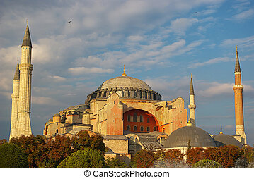 ansicht, von, hagia sophia, istanbul, türkei