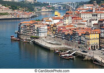 ansicht, von, porto, portugal