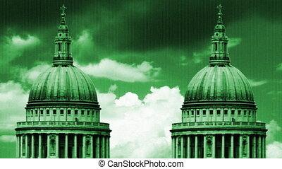 ansicht, von, st pauls kathedrale, london, vereinigtes...