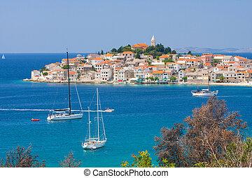 ansichten, sibenik, primosten, panoramisch, kroatien, kueste...