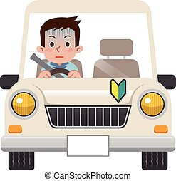 ansiedade, conduzir, homens