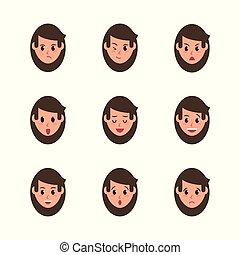 ansikte, kvinna, ikonen