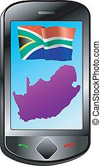anslutning, afrika, syd