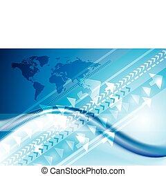 anslutning, teknologi, internet