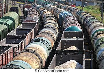 ansportation, rail, marchandises