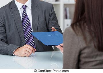 anställning, intervju